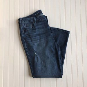 Lane Bryant Straight High Waist Distressed Jeans